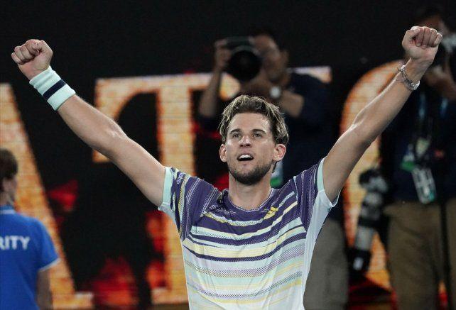 Thiem es el otro finalista del Abierto de Australia