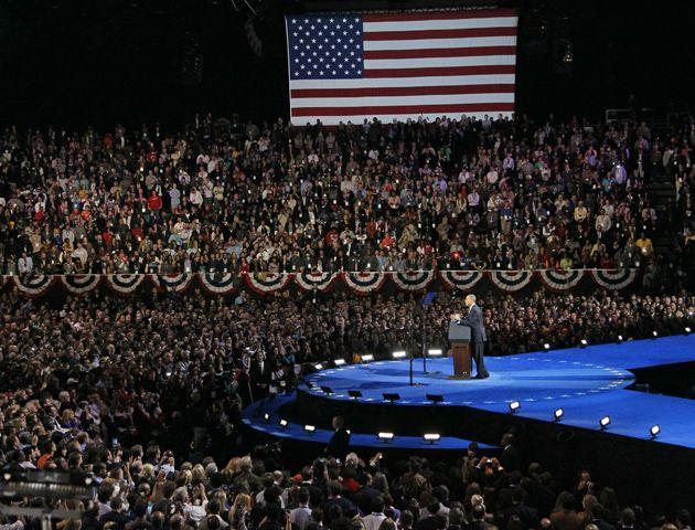Las fotos de los festejos por la reelección de Obama