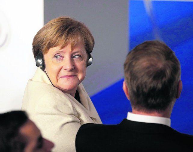 Cómoda. La canciller alemana sumó otra victoria regional.