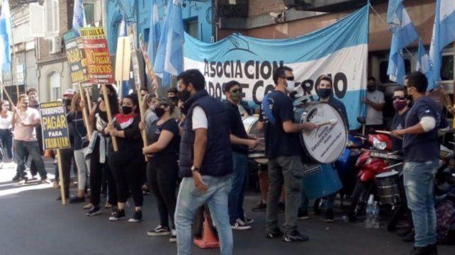La concentración de delagados de calle centers en Mitre y San Lorenzo.