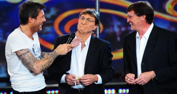 Falcioni y su gracioso doble desataron las risas en Showmatch