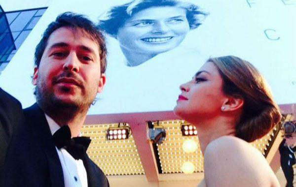 Santiago Mitre junto a Dolores Fonzi