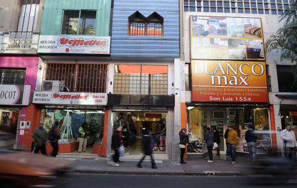 Diab dijo que ahora hay menos puestos en la céntrica calle San Luis.