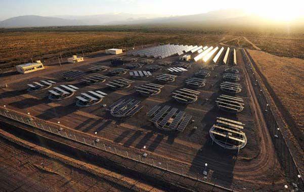 Pionera. Las dos primeras plantas fotovoltaicas del país están en la provincia de San Juan y producen siete megavatios.