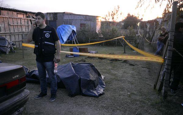El lugar donde está el pozo donde encontraron el cuerpo de Lautaro. (foto: Néstor Juncos)