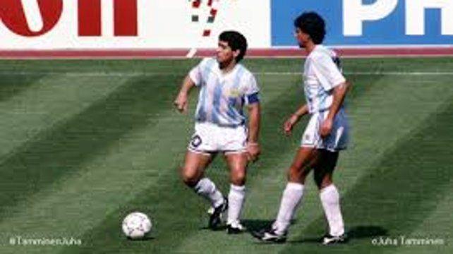 Juntos. Giusti fue uno de los impulsores para el arribo de Diego a Newells.