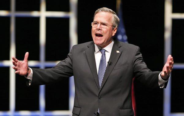 Sin brillo. El aspirante a la candidatura republicana Jeb Bush no consigue repuntar en las preferencias electorales. (AP)