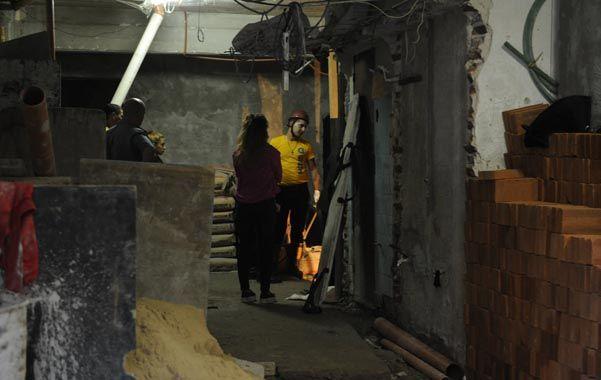 El mortal accidente laboral tuvo como escenario un edificio que se está levantando sobre una antigua cochera. (N.Juncos)