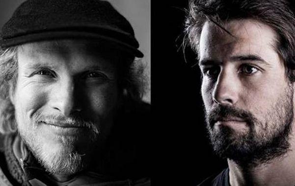 Penoso. Andreas Fransson y J.P. Auclair son buscados en el cerro San Lorenzo.