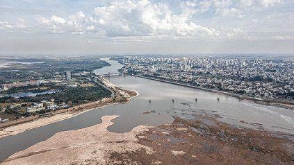 El río Paraná alcanzaría niveles de similar orden a la bajante de 1944