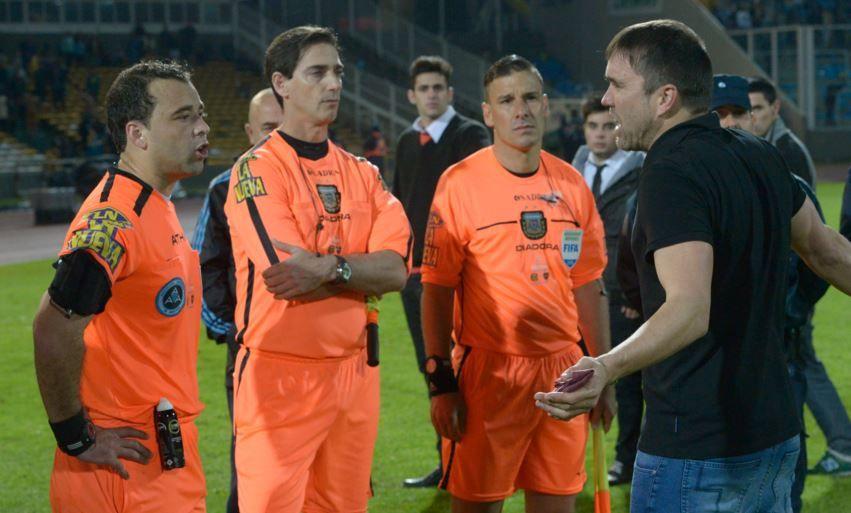 Marcelo Aumente y Diego ceballos fueron cuestionados ayer por el entrenador Coudet. (Foto: S. Suárez Meccia)