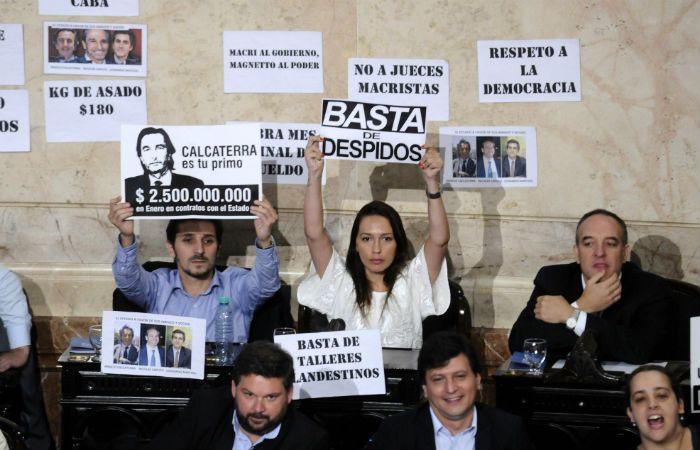Los legisladores del Frente para la Victoria tuvieron duras apreciaciones sobre el discurso de Macri.