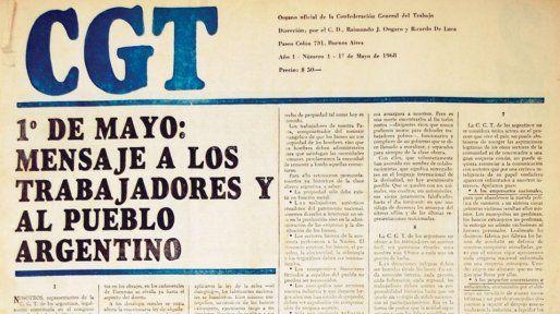 El manifiesto de la CGT de los Argentinos, de cuya redacción participó el periodista Rodolfo Walsh.