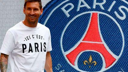 Una obra de arte en pleno centro de París llamó la atención de Lionel Messi