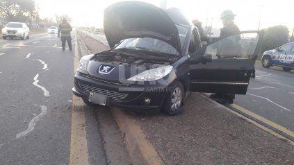 Accidente fatal en autovía 19: un auto chocó una columna de alumbrado público