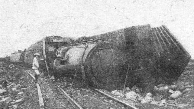 Descarrilamiento similar al de Coronel Aguirre ocurrido en Jujuy en 1921.