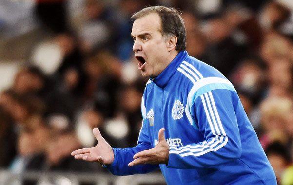 Puro grito. El entrenador de Olympique ayer pudo desahogarse.