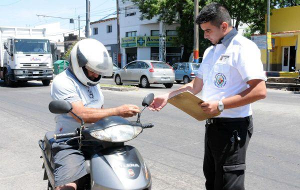 27 motos fueron incautadas tras ser constatada la falta de elementos de seguridad y documentación reglamentaria de parte de sus titulares.