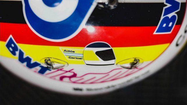 El caso que usó el alemán Sebastian Vettel en los ensayos para el GP de Gran Bretaña de Fórmula Uno.