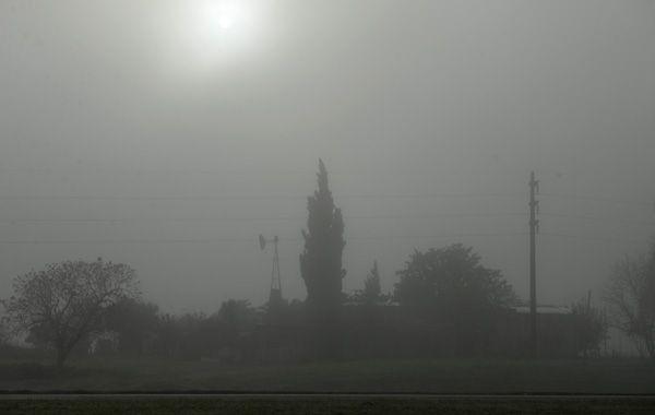 Esta mañana hubo bancos de niebla que redujeron la visibilidad. (foto: Celina Mutti Lovera)