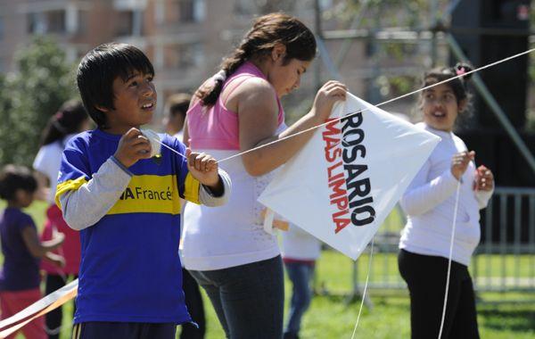 Decenas de chicos participaron de la propuesta en el scalabrini Ortíz. (Foto: S. Suárez Meccia)