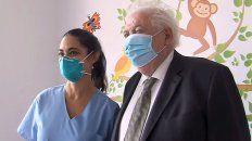 El ministro este martes en una visita a un hospital bonaerense.