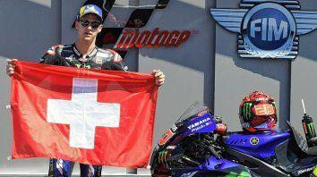 El francés Fabio Quartararo ganó el GP de Italia de MotoGP3 y se lo dedicó al suizo Dupasquier, fallecido este domingo tras el accidente protagonizado ayer.