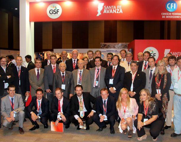 El gobernador y la delegación santafesina en la Feria BioAsia.