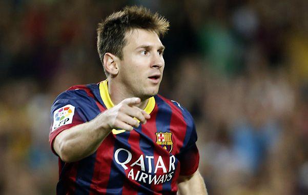 El festejo. Messi marcó el segundo de los catalanes e inicia la celebración.