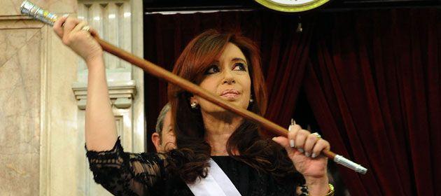 Aseguran que el bastón presidencial está en perfecto estado en la Casa Rosada.