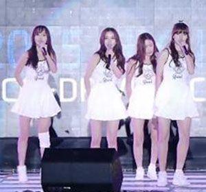 Las integrantes del grupo coreano no se dieron por vencidas y siguieron adelante con el baile.