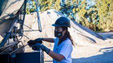 Laura Pulido la conductora del camión hormigonero.