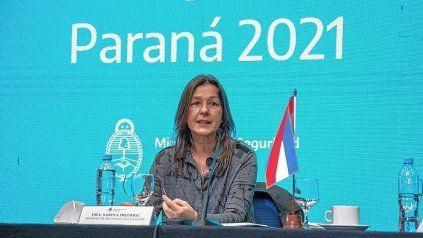 En Paraná, la ministra Sabrina Frederic encabezó la apertura del Consejo de Seguridad Interior.