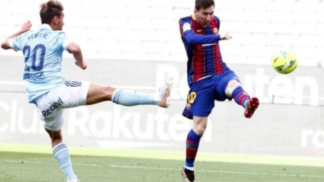 Messi jugó e hizo el gol de Barcelona en la caída ante Celta por 2 a 1 en la última fecha de La Liga.