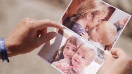Las niñas Anna y Olivia, secuestradas por su padre.