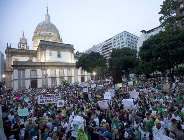 Las protestas más grandes se produjeron en Río de Janeiro. (Foto: AP)