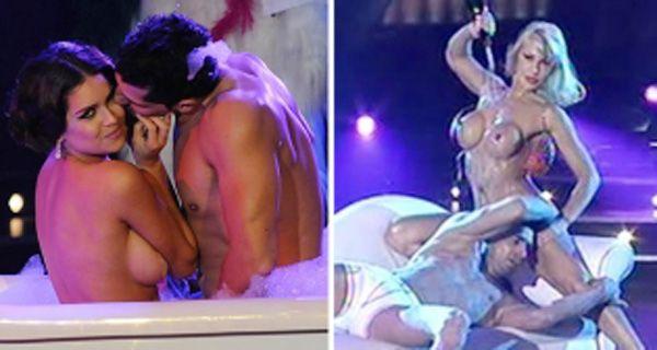Mónica Farro y Zaira Nara provocativas y sensuales en el stripdance (video)