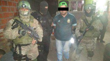 Noguera, el día que fue detenido en el barrio La Paloma de Villa Gobernador Gálvez.