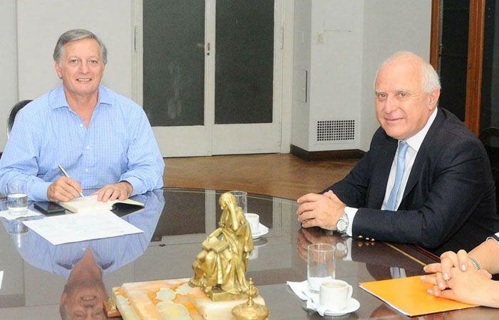 El gobernador santafesino y el funcionario nacional volverán a encontrarse el lunes.