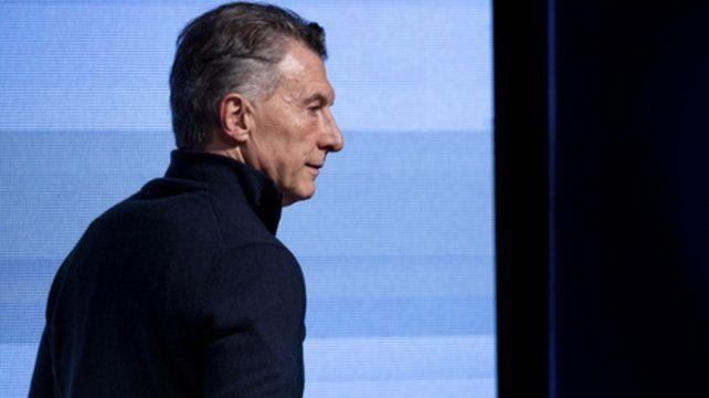 Gesto sombrío. Macri se mostró abatido por el resultado de las Paso.