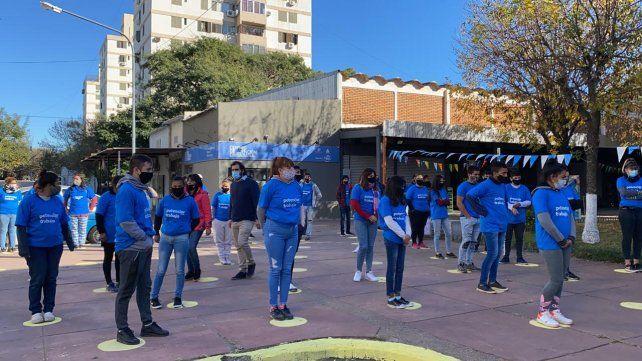 Jóvenes de la zona sur participaron del lanzamiento del programa Potenciar Trabajo.