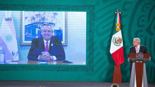 El presidente Alberto Fernández realizó una videoconferencia con su par mexicano