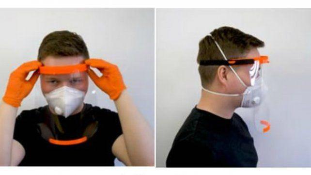 Jóvenes voluntarios construyen máscaras faciales 3D para el Cordón