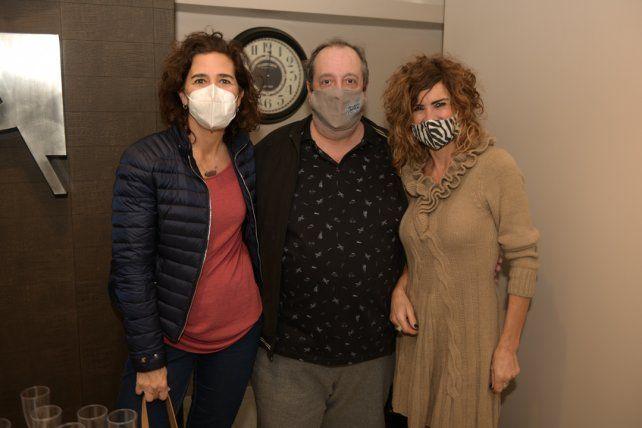 Angelina Gonzalez, Marcelo Mallia y Patricia Dell'Arciprete.