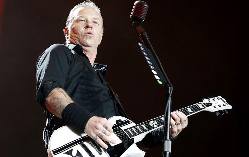 El líder. James Hetfield demostró sus cualidades como frontman y cantante.