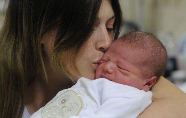 Natalia y el pequeño Lisandro