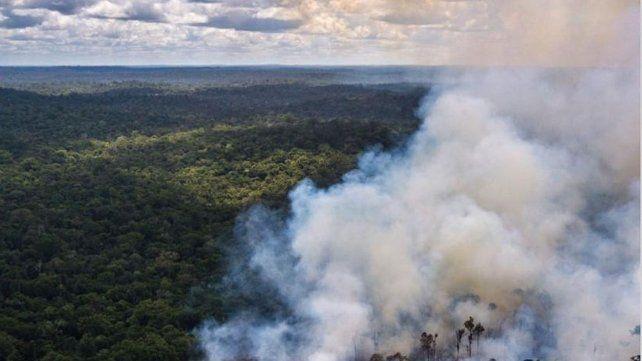 El humo del Amazonas llega a una gran parte del país