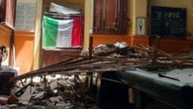 Elocuente. Así luce hoy el interior del Club Italiano.