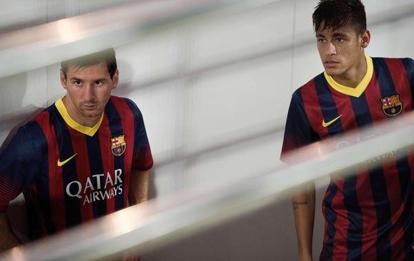 Dos potencias. Leo y Neymar. El rosarino dijo que está todo bien con él.