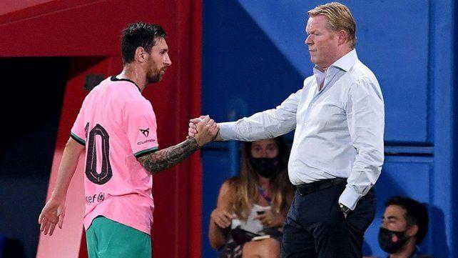 Koeman criticó a Messi y aseguró que su rendimiento puede ser mejor